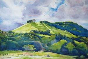 Painting of Edgewood Park inspiration point by Trevlyn Williams